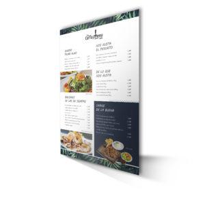 Cartas para Restaurante Originales
